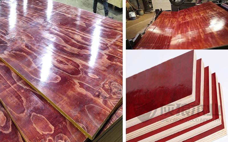 灰狼牌木模板生产实拍